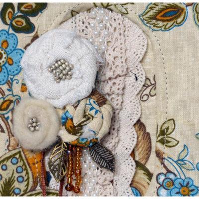 Carnet fleur de laine
