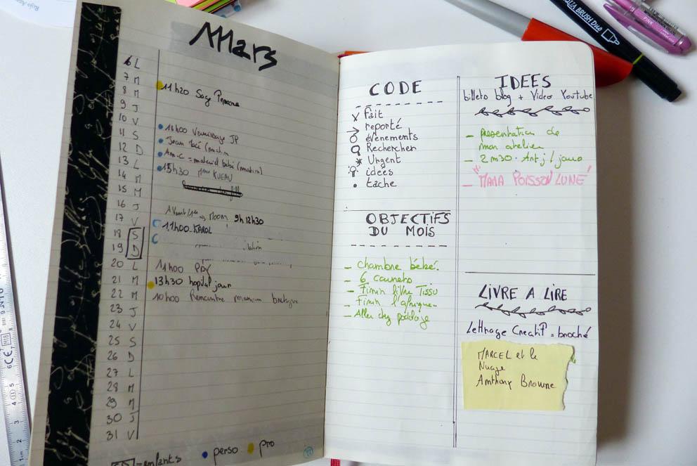 planning mensuel bujo
